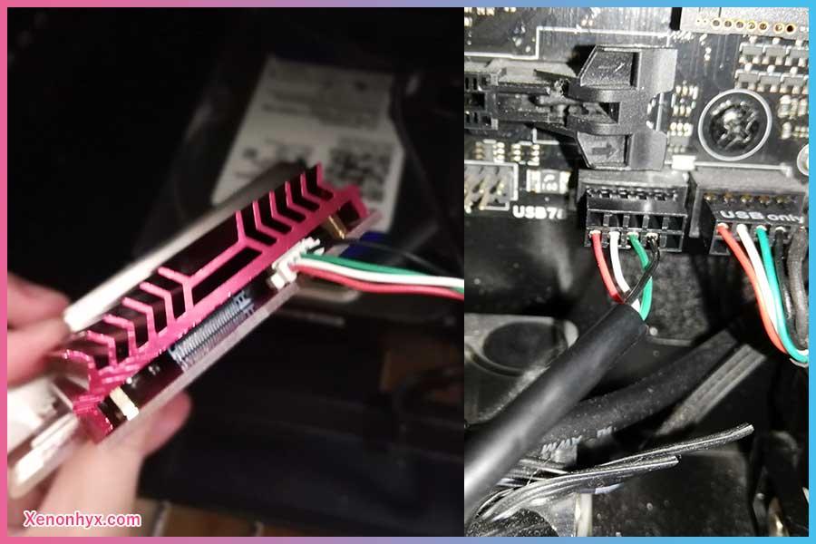 USB接続コネクタ部分